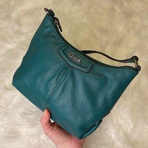 NWOT turquoise Coach crossbody 100% leather